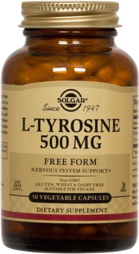 L-Tyrosine 500 mg Vegetable Capsules