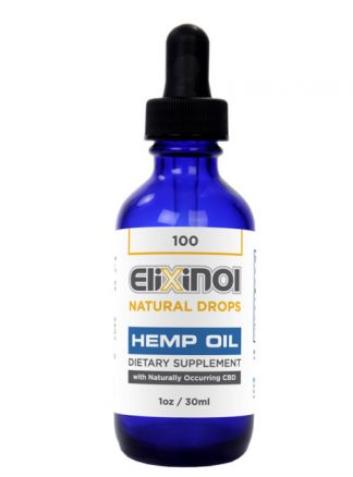 Elixinol Hemp Oil Drops 100mg CBD Natural