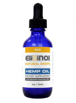 Elixinol Hemp Oil Drops 300mg CBD Natural