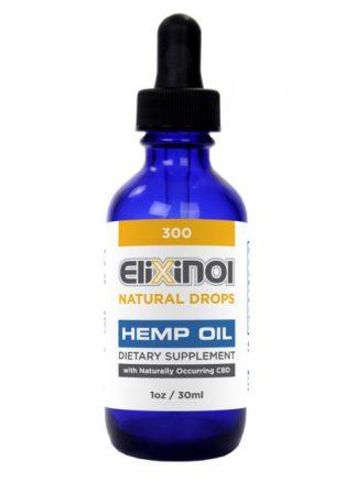Elixinol Hemp Oil Drops 300mg CBD Natural