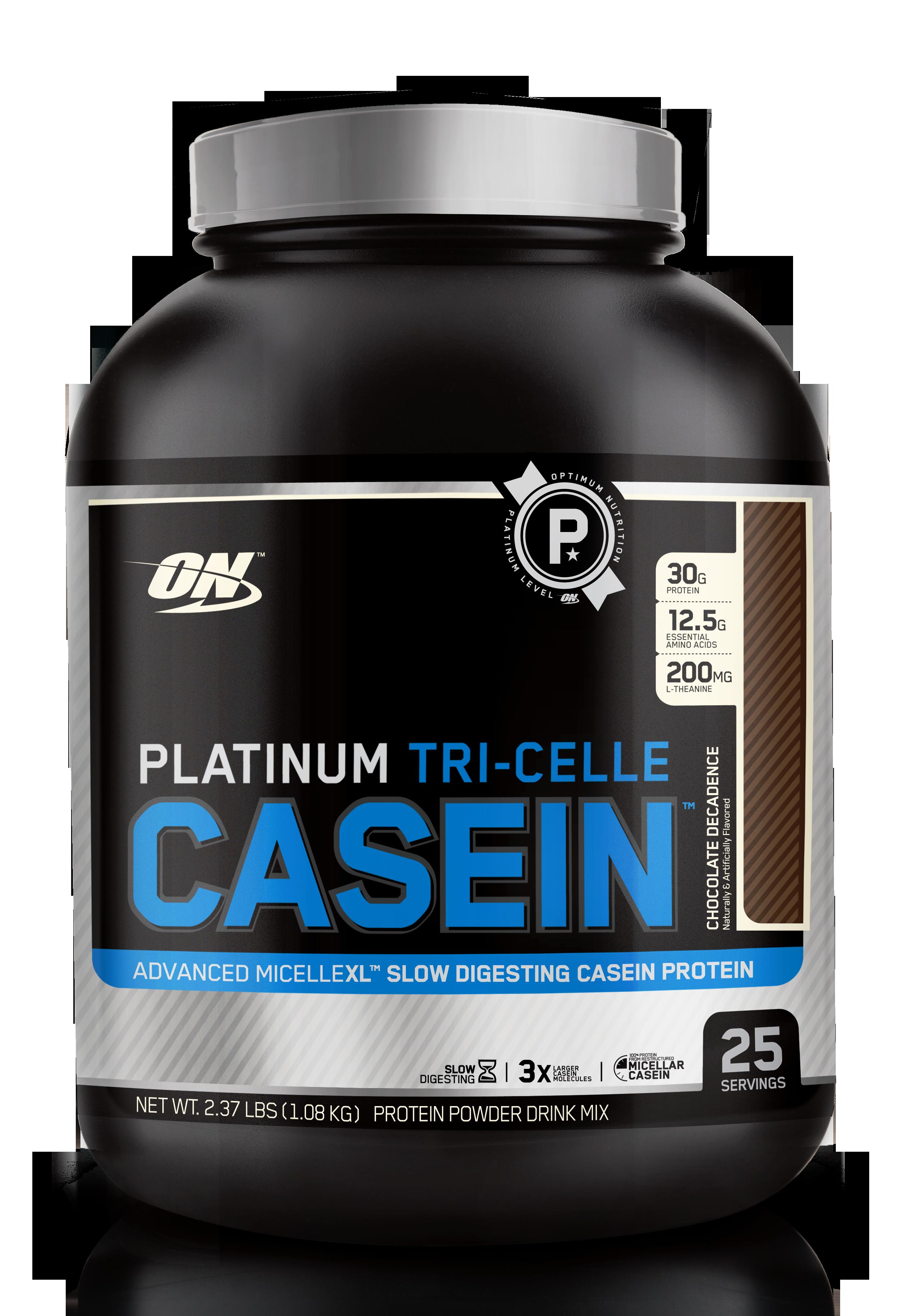 Optimum Nutrition Platinum Tri Celle Casein Chocolate Decadence 2 3LBS