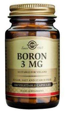 Solgar Boron 3 mg Vegetable Capsules