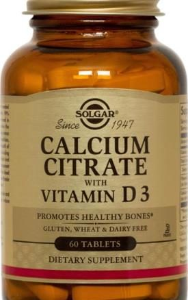 Solgar Calcium Citrate with Vitamin D3 Tablet