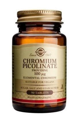 Solgar Chromium Picolinate 100 µg Tablets