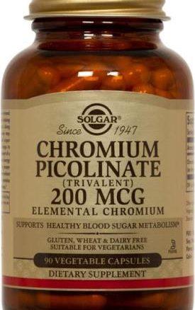 Solgar Chromium Picolinate 200 mcg Vegetable Capsules