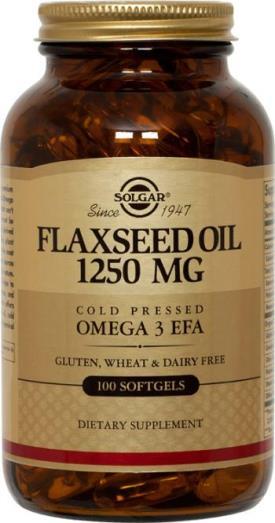 Solgar Flaxseed Oil 1250 mg Softgels