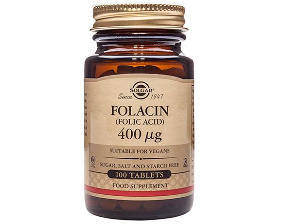 Solgar Folacin 400 µg (Folic Acid) Tablets