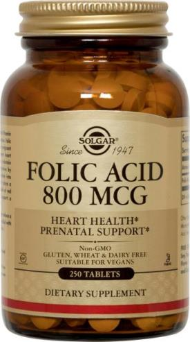 Solgar Folic Acid 800 mcg Tablets