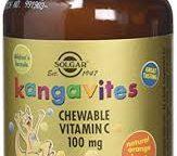 Solgar Kangavites Chewable Vitamin C 100 mg Tablets Natural Orange Burst Flavour