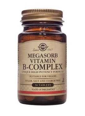 Solgar Megasorb B-Complex 50 Tablets