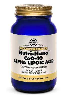 Solgar Nutri-Nano™ CoQ-10 Alpha Lipoic Acid Softgels