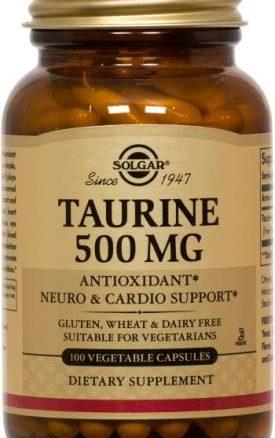 Solgar Taurine 500 mg Vegetable Capsules