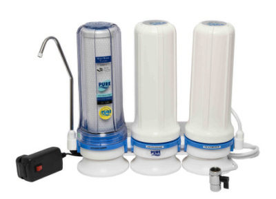 Pure water 3 Stage U.V. Light purifier for kitchen counter