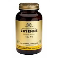 Solgar Cayenne 520 mg Vegetable Capsules