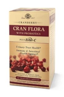 Solgar CRAN FLORA with Probiotics Plus Ester-C® Vegetable Capsules