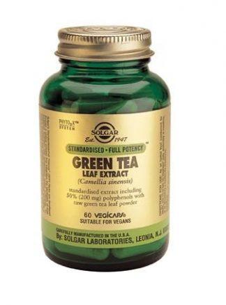 Solgar Green Tea Leaf Extract Vegetable Capsules