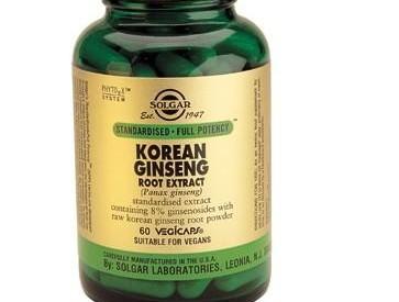 Solgar Korean Ginseng Root Extract Vegetable Capsules
