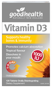 Good Health Vitamin D3 1000iu 60 tabs