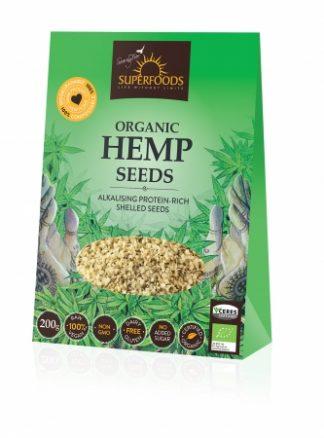 Superfoods Organic Hemp Seeds Hulled 200g