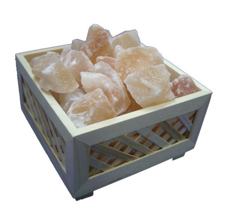 Feel Healthy Himalayan Wooden Box Salt Lamp