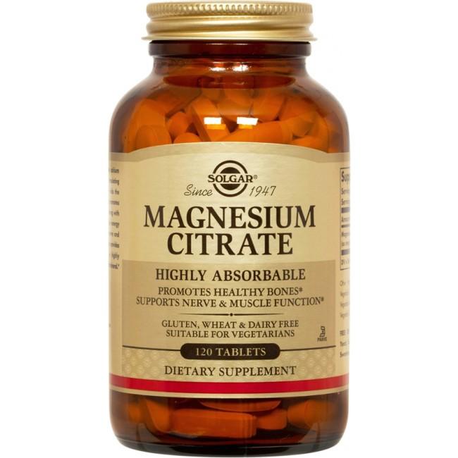 Feelhealthy Solgar Magnesium Citrate 120 tabs