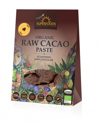 Superfoods Organic Raw Cacao Paste 200g