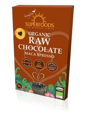 Feel Healthy Superfoods Organic Raw Chocolate - Maca Xpresso 50g