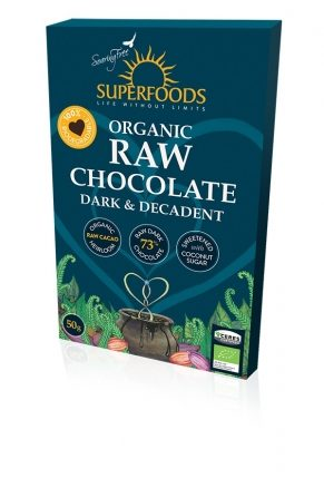 Feel Healthy Superfoods Chocolate - Dark and Decadent 50g
