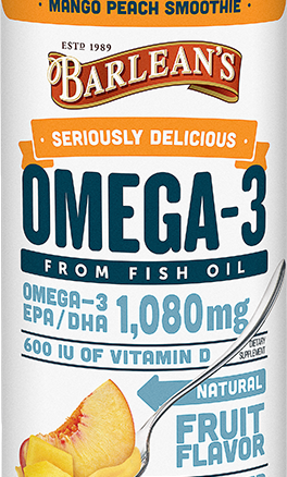 Barleans Seriously Delicious Omega 3 Fish Oil Mang Peach Smoothie