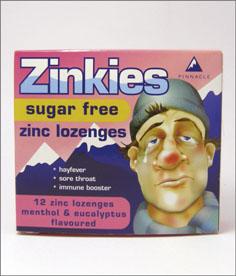 Zinkies Lozenges Sugar Free