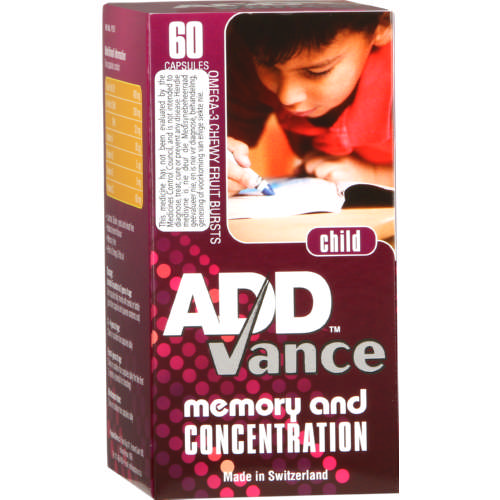 Addvance Child Memory And Concentration 60 Capsules Online Vitamins Natural Medication Call 0117869539