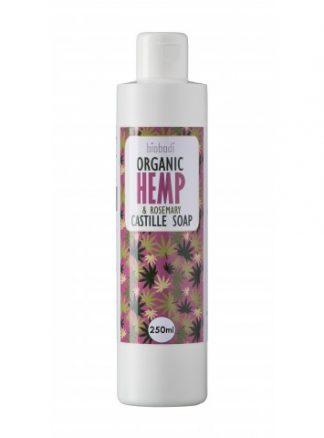 Biobodi organic hemp castille soap with rosemary