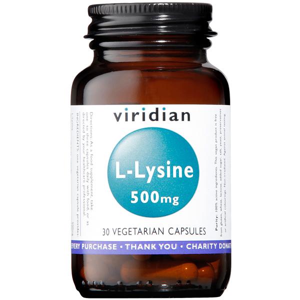 Viridian L-Lysine 500mg 30 Capsules