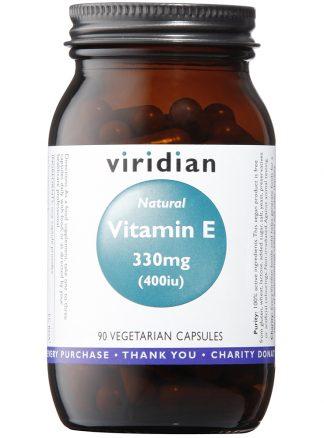 Viridian Natural Vitamin E 400IU 90 capsules