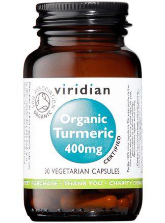 Viridian Turmeric 400mg Organic 30 caps
