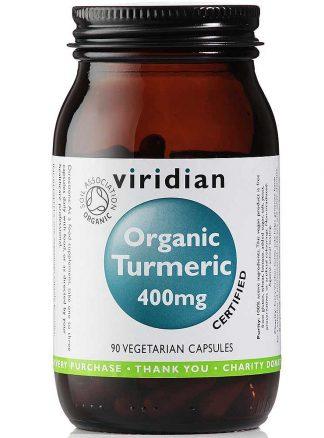 Viridian Turmeric 400mg Organic 90 caps
