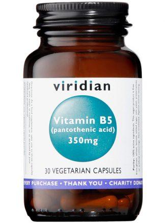 Viridian Vitamin B5 (Pantothenic Acid) 350mg 30 caps
