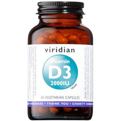 Viridian Vitamin D3 2000iu 60