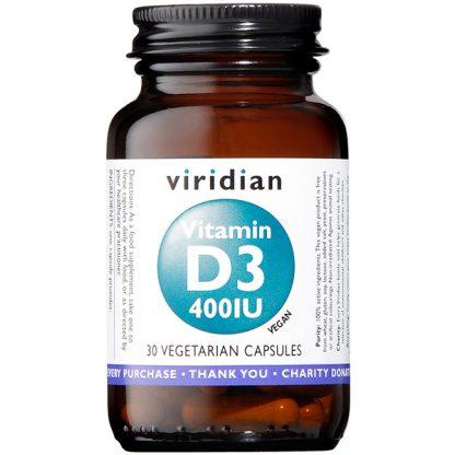 Viridian Vitamin D3 400iu 30 caps