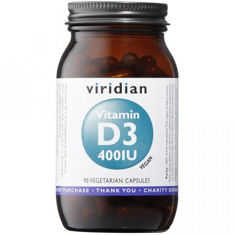 Viridian Vitamin D3 400iu 90 caps