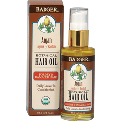 Badger Argan Herbal Hair Oil for dry & damaged hair
