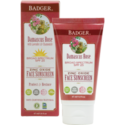 Badger Damascus Rose SPF 25 Face Sunscreen