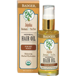 Badger Jojoba Herbal Hair Oil for dry scalp