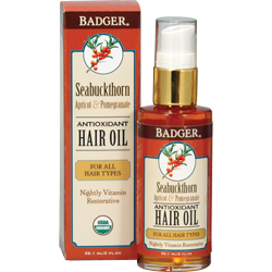 Badger Seabuckthorn Herbal Hair Oil