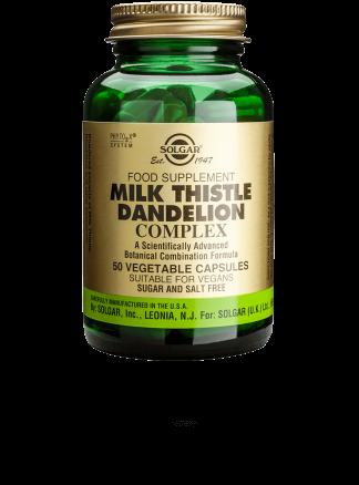 Solgar Milk Thistle Dandelion Complex 50 Vegetable Capsules
