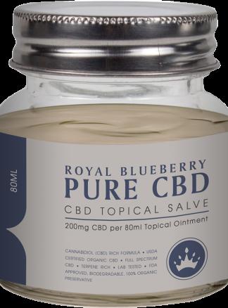 Cannaco Pure CBD Topical Salve - Royal Blueberry 80ml