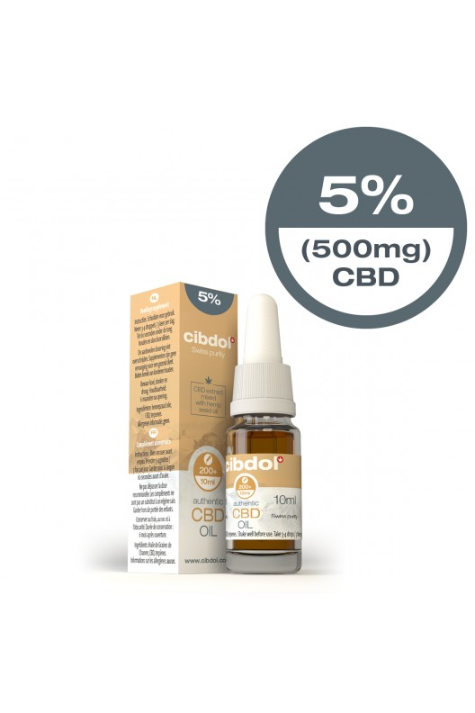 Cibdol CBD Hemp Seed Oil 10ml 5% 500mg