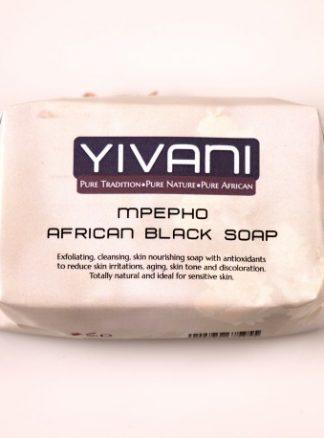 Yivani Mpepho African Black Soap 100g