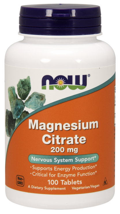 Now Foods Magnesium Citrate 200 mg Tablets
