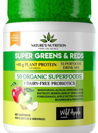 Buy Natures Nutrition Super Greens and Reds Wild Apple Online